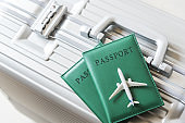 Travel concept ,Passports and airplane
