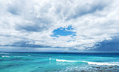 Dramatic sky and sea