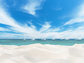 Summer white sandy beach