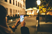 Night walk in the city