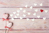 Love concept with Valentine's hearts composition