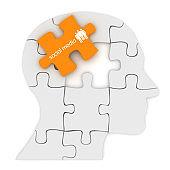 Social media communication head puzzle