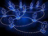 Social media network people communication