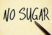 no sugar text write on paper