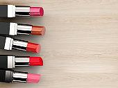 many shades of lipsticks