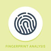 Fingerprint Curve Icon