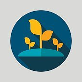 Plant sprout flat vector icon