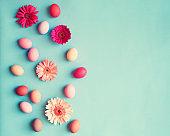 Vintage pastel Easter eggs