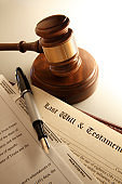 Gavel And A Last Will And Testament