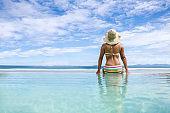 Woman enjoying her vacations