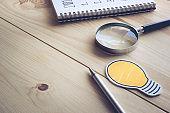 Desk table Investor background.business concept