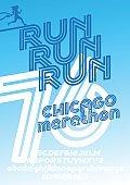 Chicago marathon run poster