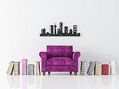 Modern white living room interior minimalist style image 3d rendering