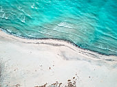 aerial view of the caribbean sea
