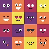 Smiley - modern vector set of emoji illustrations.