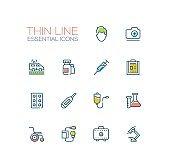Medical Equipment - line icons set