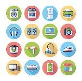 Home appliances - modern vector flat design icons set.