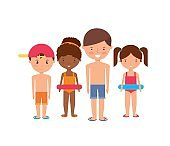 Kids  icon. Summer and vacation design. Vector graphi