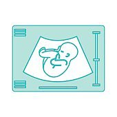 Ultrasound monitor isolated icon