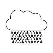 cloud raining isolated icon