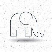 Isolated elephant animal design