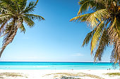 caribbean beach with ocen view in Varadero in Cuba