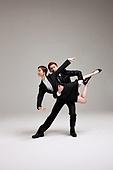 dancing business duo
