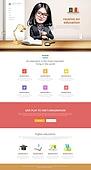 Education web template