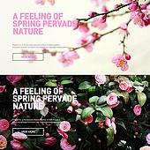 Spring landscape banner