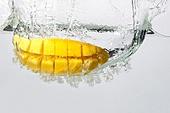 Mango Splashing in Water