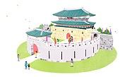 Ancient Palace Illust