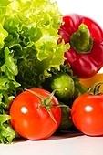fresh ripe vegetables set on white background