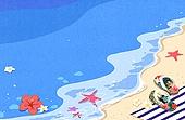 Summer Background Illust