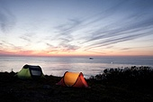 석양 야영 캠핑