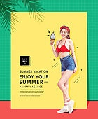 Vivid summer woman - Graphics image