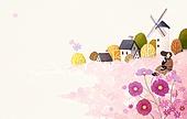 The sensitivity autumn background illust