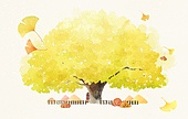 The sensitivity autumn background illust