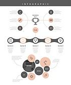 비즈니스, 아이콘, 인포그래픽, 도표 (시각교재)
