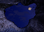 The hole of the moon in a quarry