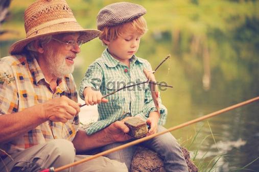 할아버지와 즐거운 한 때