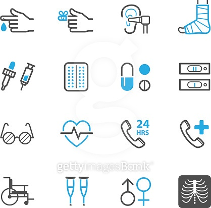 Line icons - Medical