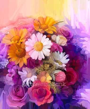강렬한 색채, 꽃