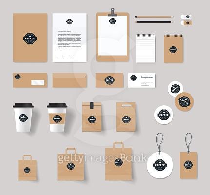 커피 브랜딩 Mork-up