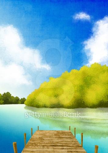 사계절 자연 풍경