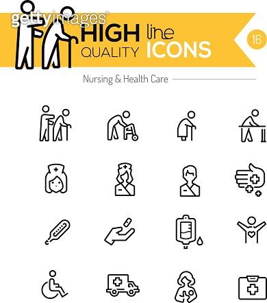 High line quality icons