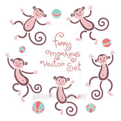 패턴 - Funny Monkeys