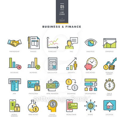 Line icons - business