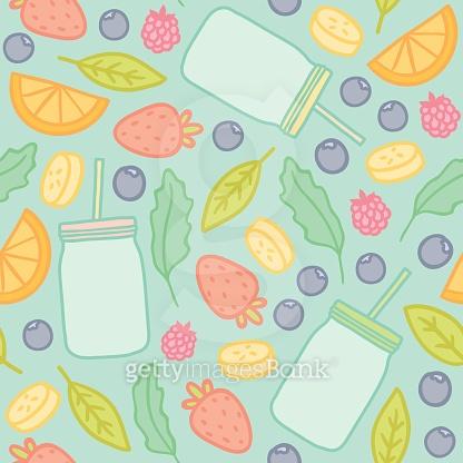 패턴 - 음료,과일