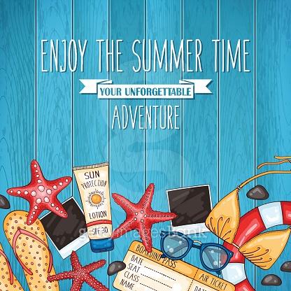 Summer travel background