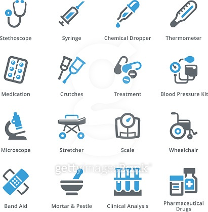 Medical & health care icons